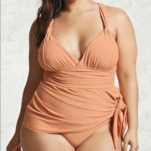 Forever 21 Swim - Forever 21 Plus Size Draped 1 Piece Swimsuit 3X